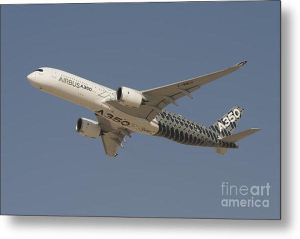 Airbus A350 At Dubai Air Show, Uae Metal Print