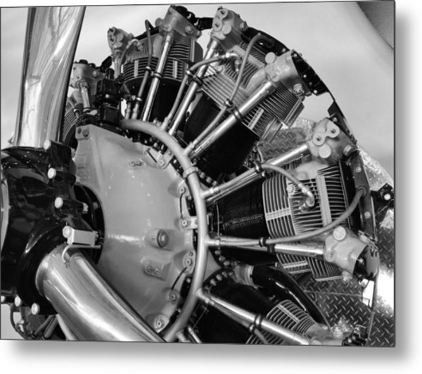 Aircraft Engine Metal Print by Ludwig Keck