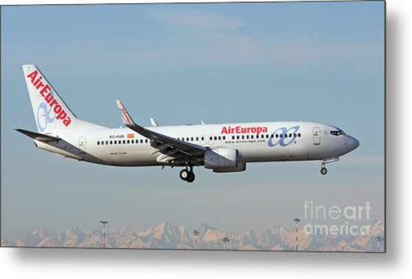 Aireuropa - Boeing 737-800 - Ec-hjq  Metal Print