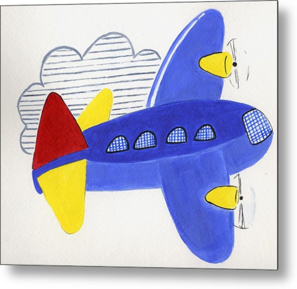 Airplane Metal Print by Christine Quimby