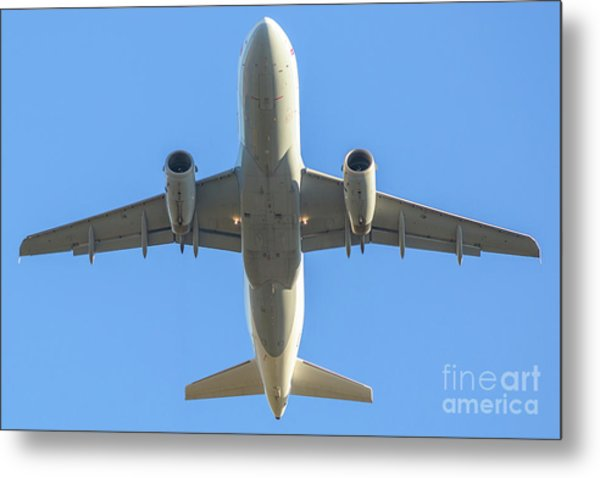 Airplane Isolated In The Sky Metal Print
