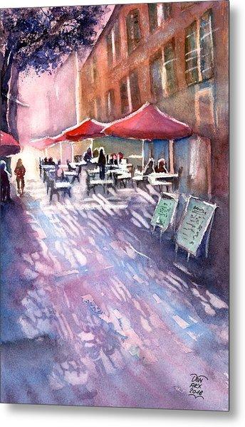 Aix En Provence Early Morning Coffee Metal Print