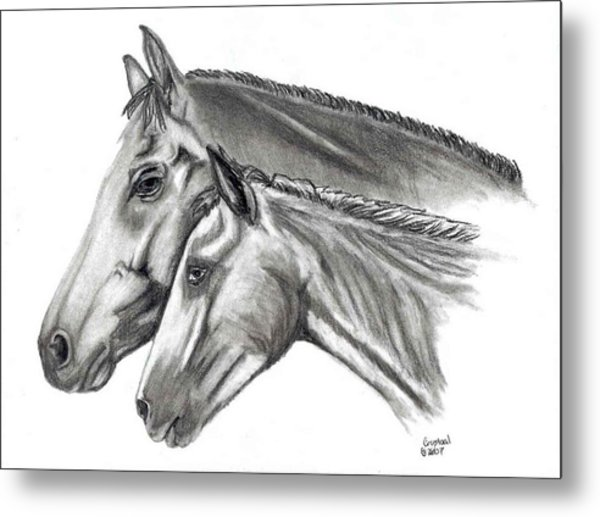 Aj And Candy Metal Print by Crystal Suppes