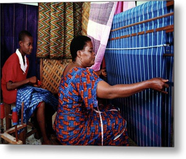 Akwete Weaving Metal Print