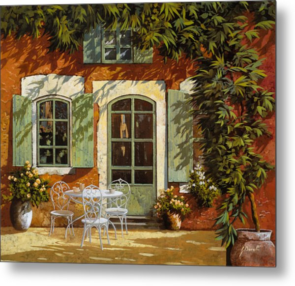 Al Fresco In Cortile Metal Print