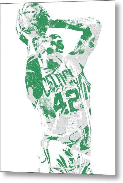 Al Horford Boston Celtics Pixel Art 8 Metal Print