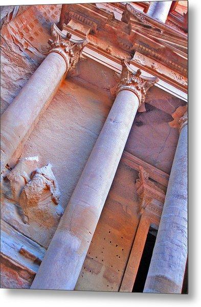 Al Khazneh Or The Treasury At Petra. Metal Print