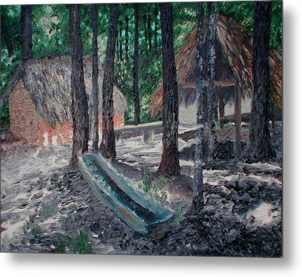Alabama Creek Indian Village Metal Print by Beth Parrish