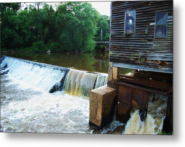 Alabama Grist Mill Dam Metal Print by Beverly Hammond