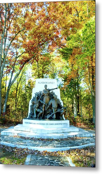 Alabama Monument At Gettysburg Metal Print