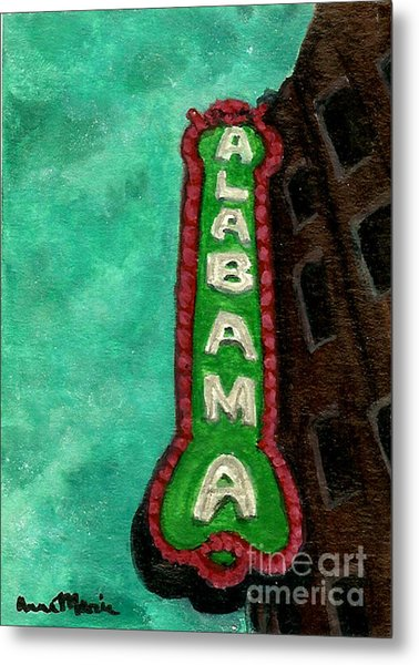 Alabama Theatre Metal Print by AnnaMarie Armstrong