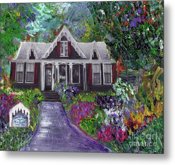 Alameda 1854 Gothic Revival - The Webster House Metal Print