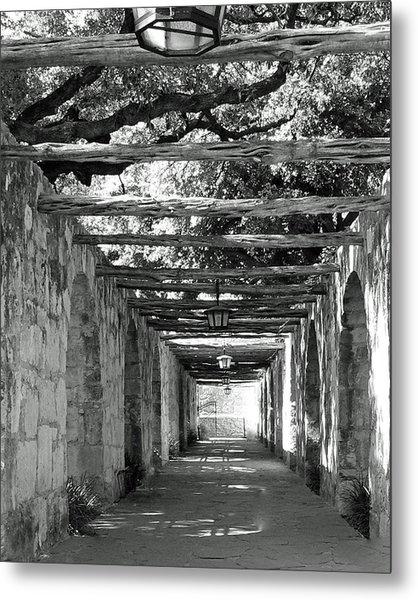 Alamo Corridor Metal Print