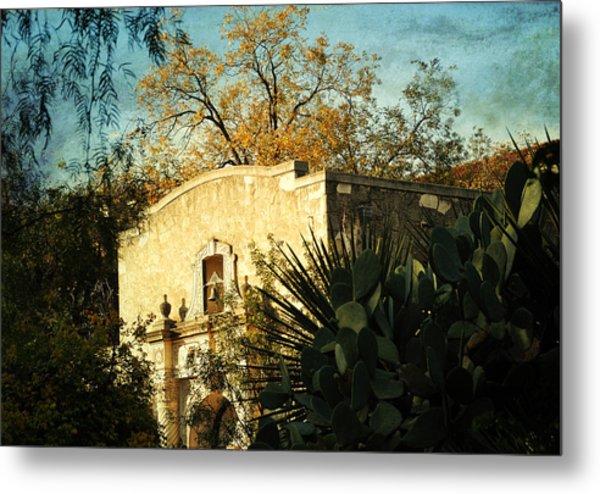 Alamo Mission Metal Print by Iris Greenwell