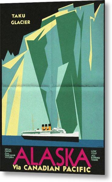 Alaska Canadian Pacific - Vintage Poster Folded Metal Print