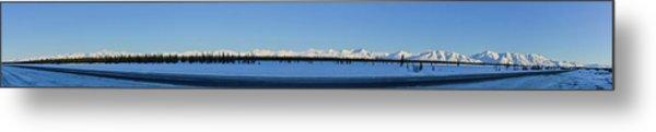 Alaska Highway Panorama Metal Print