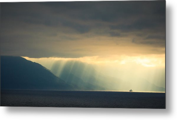 Alaska Inside Passage Under The Clouds Metal Print