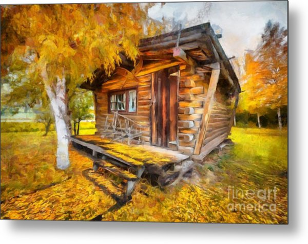 Alaskan Autumn Metal Print