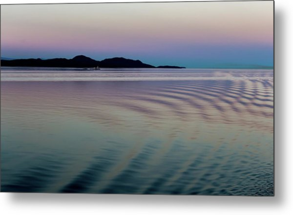 Alaskan Sunset At Sea Metal Print