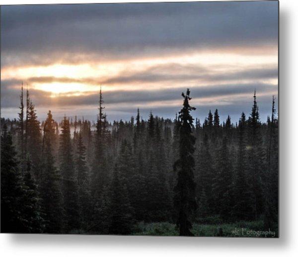 Alaskan Sunset Sunrise Metal Print