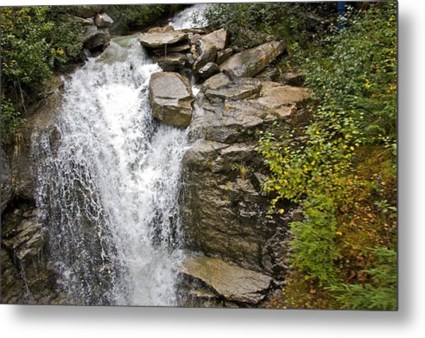 Alaskan Water Fall Metal Print by Robert Joseph