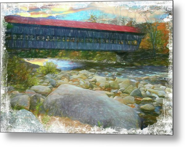 Albany Covered Bridge Nh. Metal Print