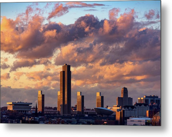 Albany Sunset Skyline Metal Print