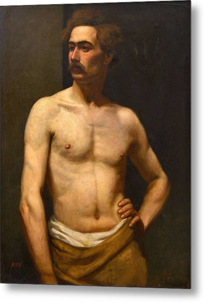 Albert Edelfelt Male Model Metal Print