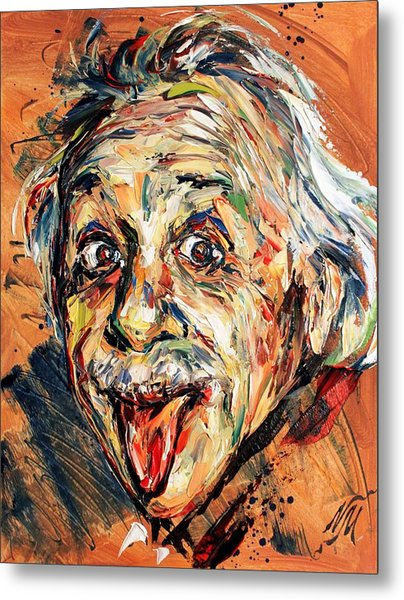 Albert Einstein Metal Print by Natasha Mylius