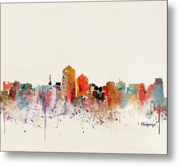 Albuquerque New Mexico Skyline  Metal Print