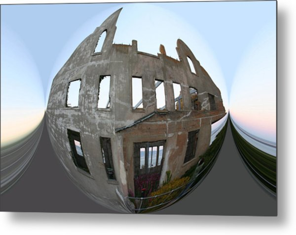 Alca Spherical Metal Print by Holly Ethan