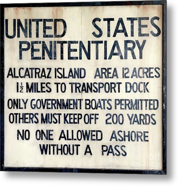 Alcatraz Welcome Sign Metal Print