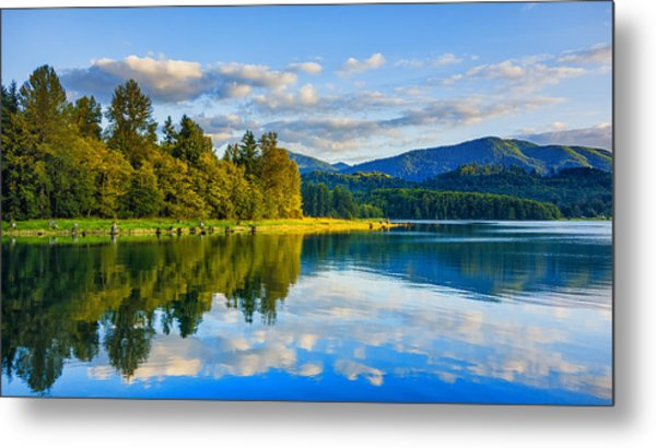 Alder Lake Reflection Metal Print