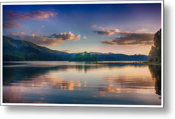 Alder Lake Sunset Metal Print