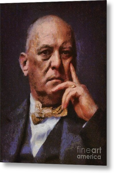 Aleister Crowley, Infamous Occultist Metal Print