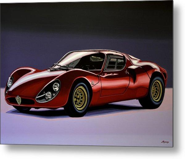 Alfa Romeo 33 Stradale 1967 Painting Metal Print