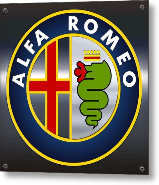 Alfa Romeo Logo Metal Print