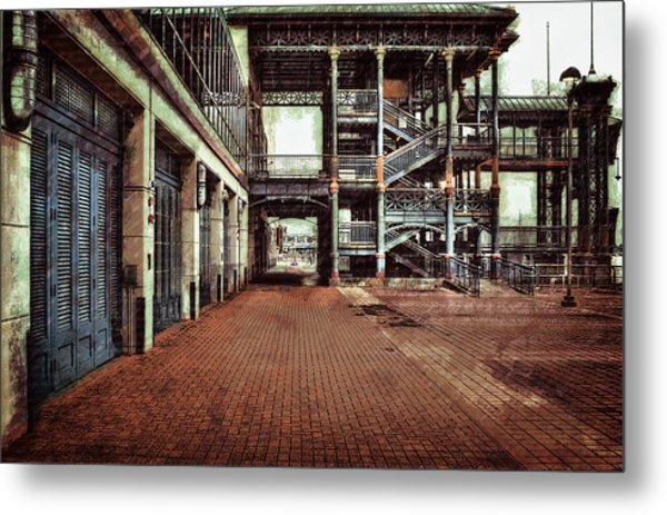 Algiers Ferry Dock Metal Print