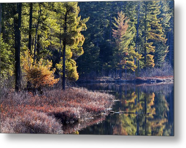 Algonquin Sunrise Reflection Metal Print