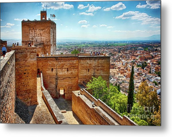 Alhambra Tower Metal Print