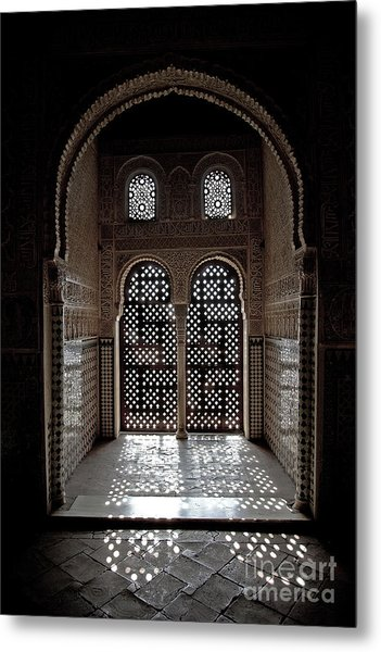 Alhambra Window Metal Print