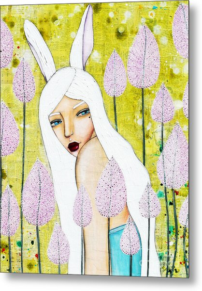 Metal Print featuring the mixed media Alice In Oz by Natalie Briney