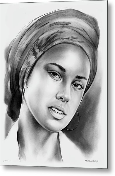 Alicia Keys 2 Metal Print