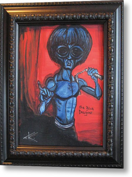 alien Bruce Lee Metal Print