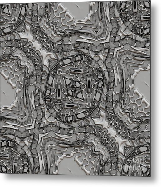 Alien Building Materials Metal Print