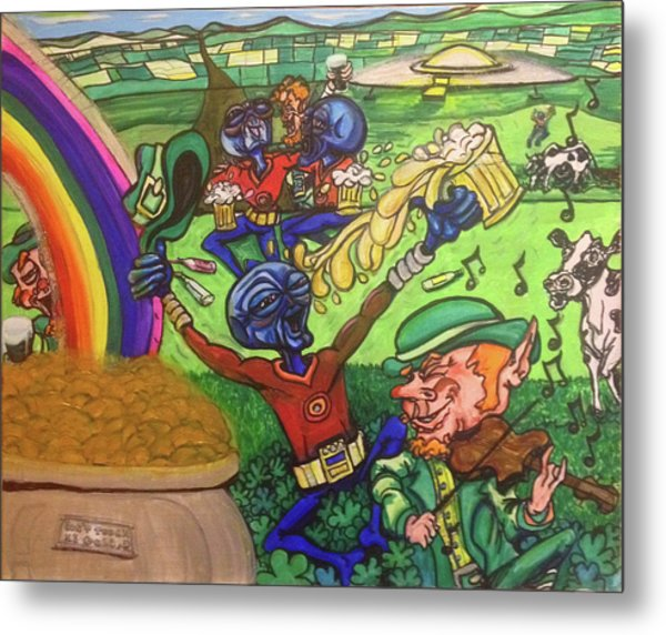 Alien Go Bragh Metal Print
