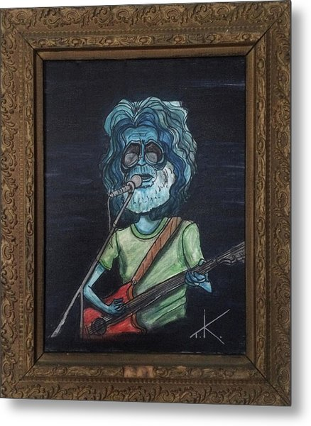 Alien Jerry Garcia Metal Print
