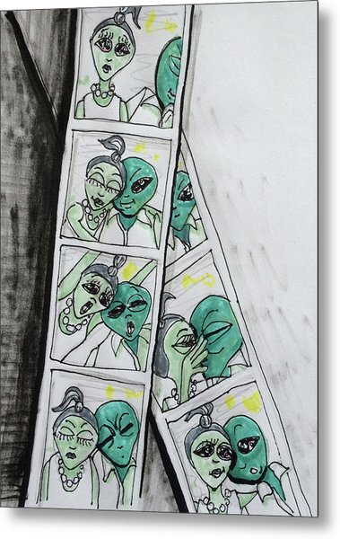 alien Photo Booth  Metal Print