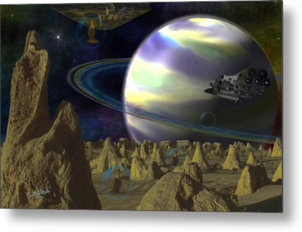 Alien Repose Metal Print