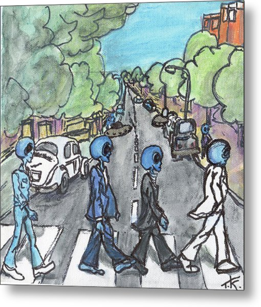 Alien Road Metal Print